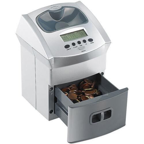Spardose Zähler Mobiler Euro-Münzzähler mit Batteriebetrieb Geldzähler