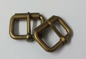 Genuine-British-Army-Horse-Guards-amp-H-Cav-Brass-3-4-034-Bridle-Buckles-1-Pair-STD25