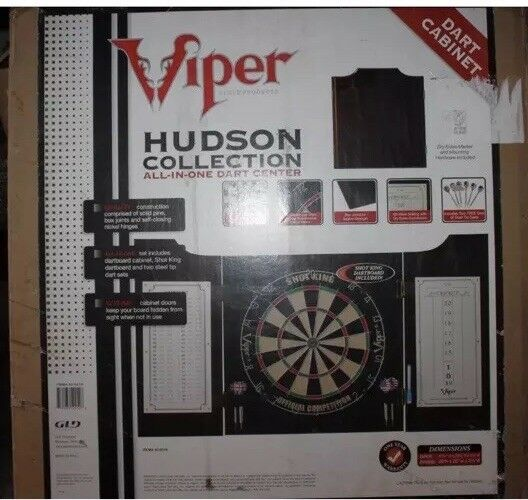 Viper Viper Viper HUDSON Mahogany ALL IN ONE DART CENTER Board WOOD Cabinet DARTS 40-0219  756242
