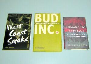 3 Books CANADA MARIJUANA INDUSTRY Psychedelic Hashish Cannabis Marihuana HIPPIES