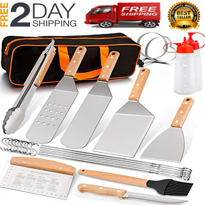 10-PCS Griddle Barbecue Tools Set Blackstone Grill Accessories Kit BBQ Outdoor