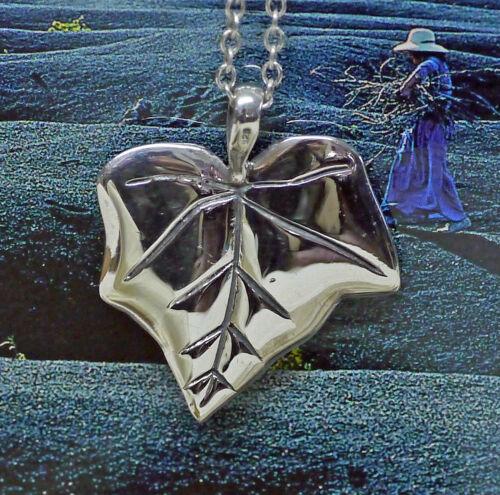 Kraftamulett Efeu Blatt 925 Silberanhänger Amulett Baumorakel Keltik LIEBE Wicca