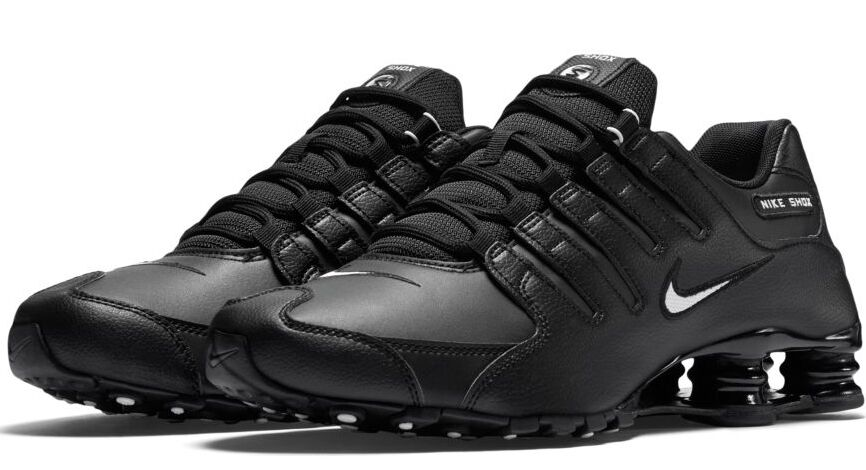 New NIKE Shox NZ Premium Running Shoes Mens black/white/black all sizes