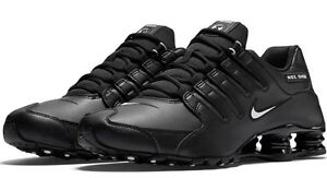 a64a74e0db81b5 New NIKE Shox NZ Premium Running Shoes Mens black white black all ...