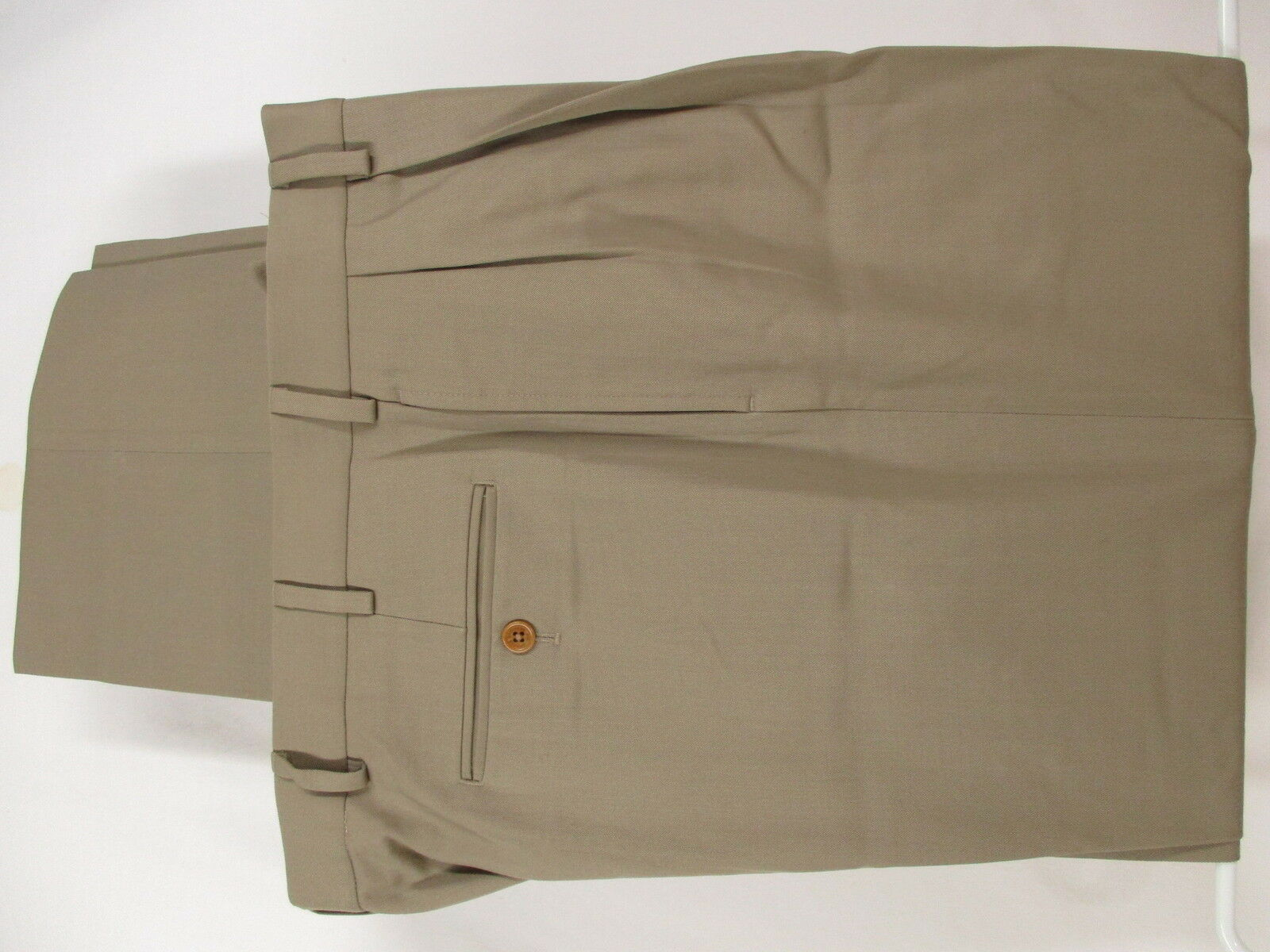 Brooks Bredhers 1818 Madison Mens Khaki Pleated Dress Pants 37x29.5