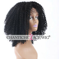 Heat Safe Kinky Curly Synthetic Hair Lace Front Wigs For African Americans 16