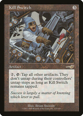 1 FOIL Kill Switch Artifact Nemesis Mtg Magic Rare 1x x1