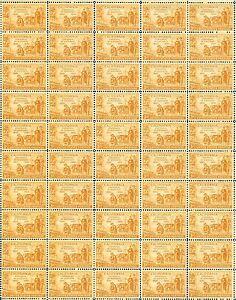 CALIFORNIA STATEHOOD (1950) - Vintage Full Mint Sheet of 50 U.S. Postage Stamps