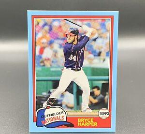 Bryce Harper 9/25 2018 Sky Blue Topps Archives #300 Washington Nationals MLB