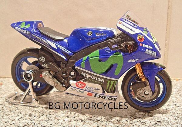 1:18 2016 Monster Factory Yamaha Yzr-m1 Diecast Toy Model Valentino Rossi #46 Une Offre Abondante Et Une Livraison Rapide