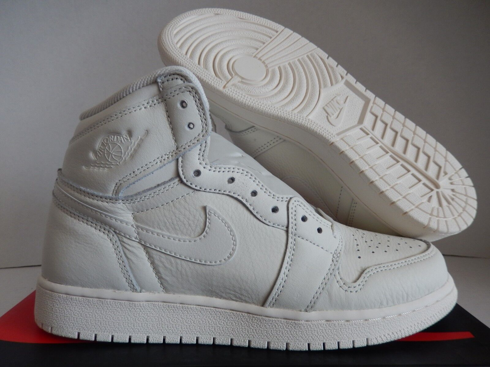NIKE AIR JORDAN 1 RETRO HIGH OG BG SAIL-RED SZ 6.5Y-WOMENS SZ 8 [575441-114]