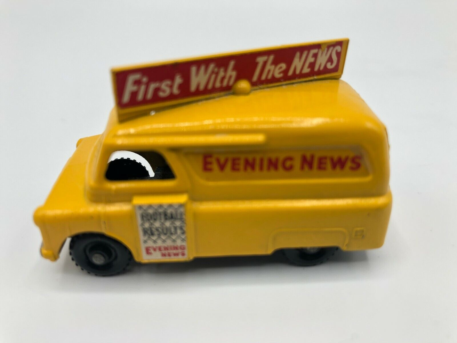 Everything News Yellow Van By Lesney (Made In England) Excellent Used Condition
