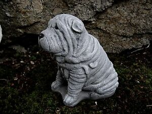 Image Is Loading Shar Pei Statue Dog Statues Garden Decor Concrete