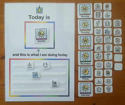 TODAY IS AND THIS IS WHAT I AM DOING TODAY CHART - autism/aspergers/ESL & more