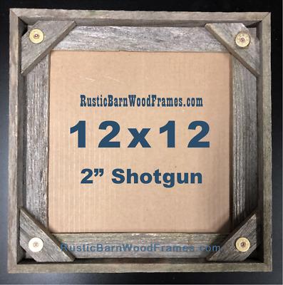 "12x12"" Shotgun Shell rustic barnwood barn wood picture ..."
