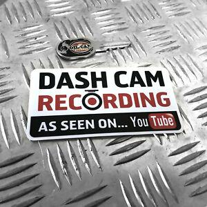1X-DASH-CAM-RECORDING-AS-SEEN-ON-YOUTUBE-FUNNY-CAR-STICKER-DECAL-BUMPER