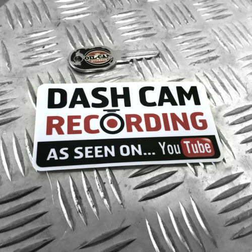 FUNNY CAR STICKER DECAL BUMPER 1X DASH CAM RECORDING AS SEEN ON YOUTUBE