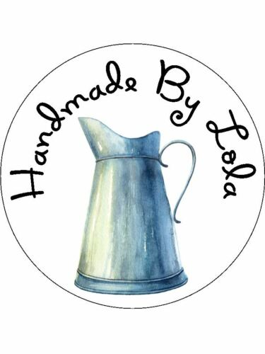 Personalised Stickers Handmade by étiquettes tailles diverses tout nom Shabby carafe H20
