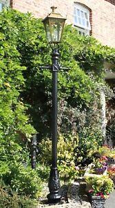 Utilisé Ex-display 2.7 M Gothique Laiton Lampadaire + Lanterne Reclaimed Jardin éclairage-afficher Le Titre D'origine Dans Beaucoup De Styles