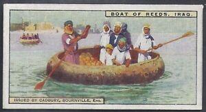 CADBURY-TRANSPORT-#19- IRAQ - BOAT OF REEDS ON THE TIGRIS