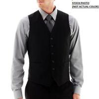 Brand J. Ferrar Stretch Slim Fit Gabardine Vest Navy Size S Msrp $80.00