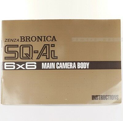 Zenza Bronica SQ-un libro manual de instrucciones principal cuerpo de Cámara Medio Formato