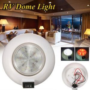 30-P4 LED WARM WHITE CABIN DOME LIGHT Boat//Caravan//4x4//RV//Reading Lamp WW*