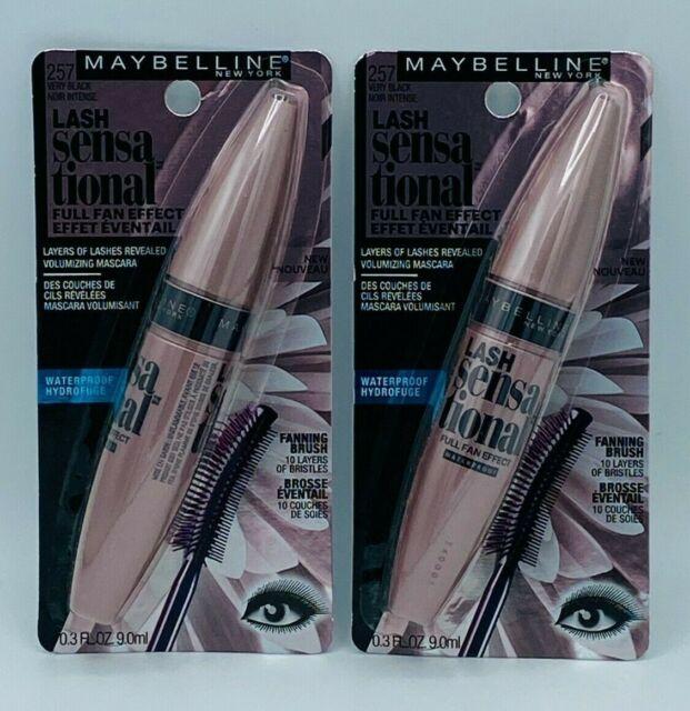 2 X Maybelline Lash Sensational Full Fan Effect Waterproof-257 Very Black