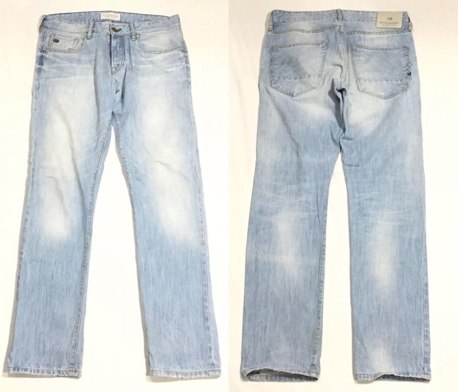 Scotch & Soda Vernon bluee Light Faded Denim Slim Fit Jeans gold Rush 32x32.5 Men