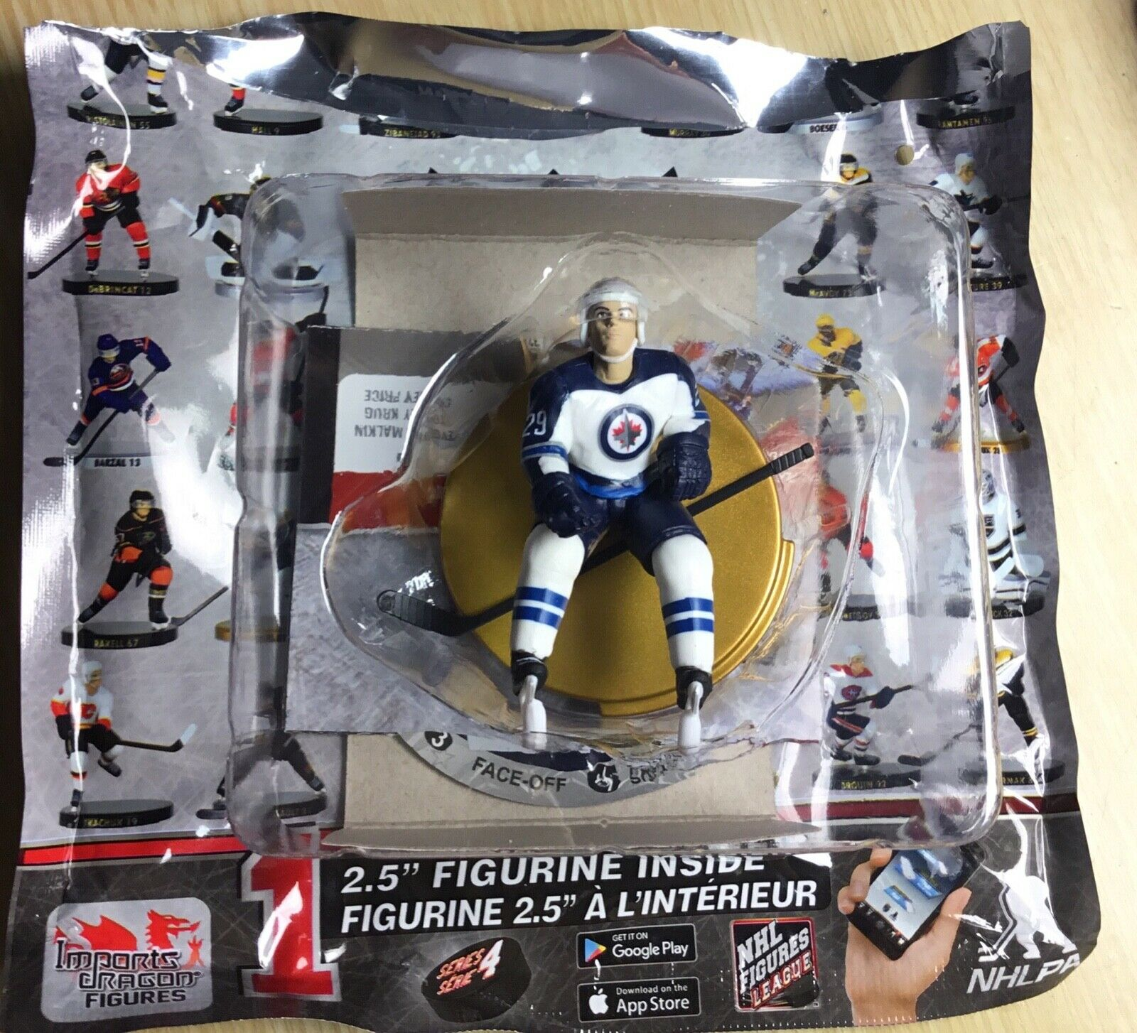 PATRIK PATRIK PATRIK LAINE NHL SERIES 4 LIMITED ED of 750 2.5  FIGURE IMPORTS DRAGON gold JETS 54d792