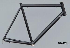 Onroad-Lite-Rennrad-Rahmen-RH-60-cm-in-schwarz-matt-1520g-FUR-NR420