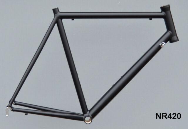 Onroad Lite Rennrad Rahmen RH 60 cm in schwarz matt 1520g FUR NR420