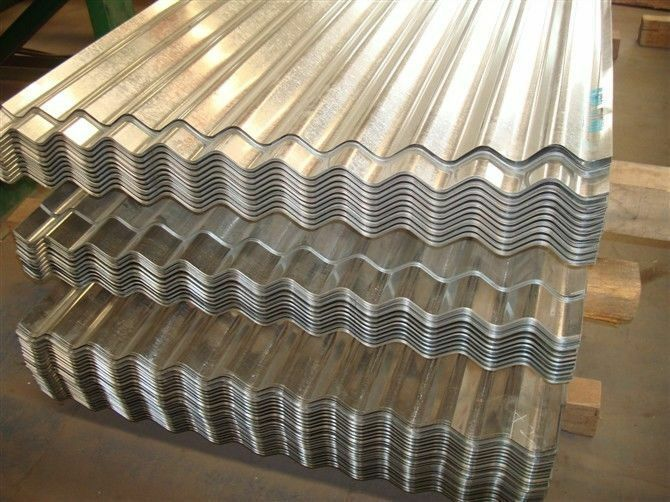 2.4m x 1.09m Wide Galvanised Metal Corrugated Roofing Sheet Cladding Cover
