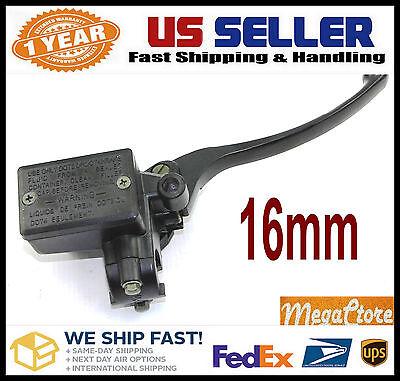 "16mm 5//8 Honda Front Mount Hydraulic Clutch Master Cylinder ALL Black 7//8/"""
