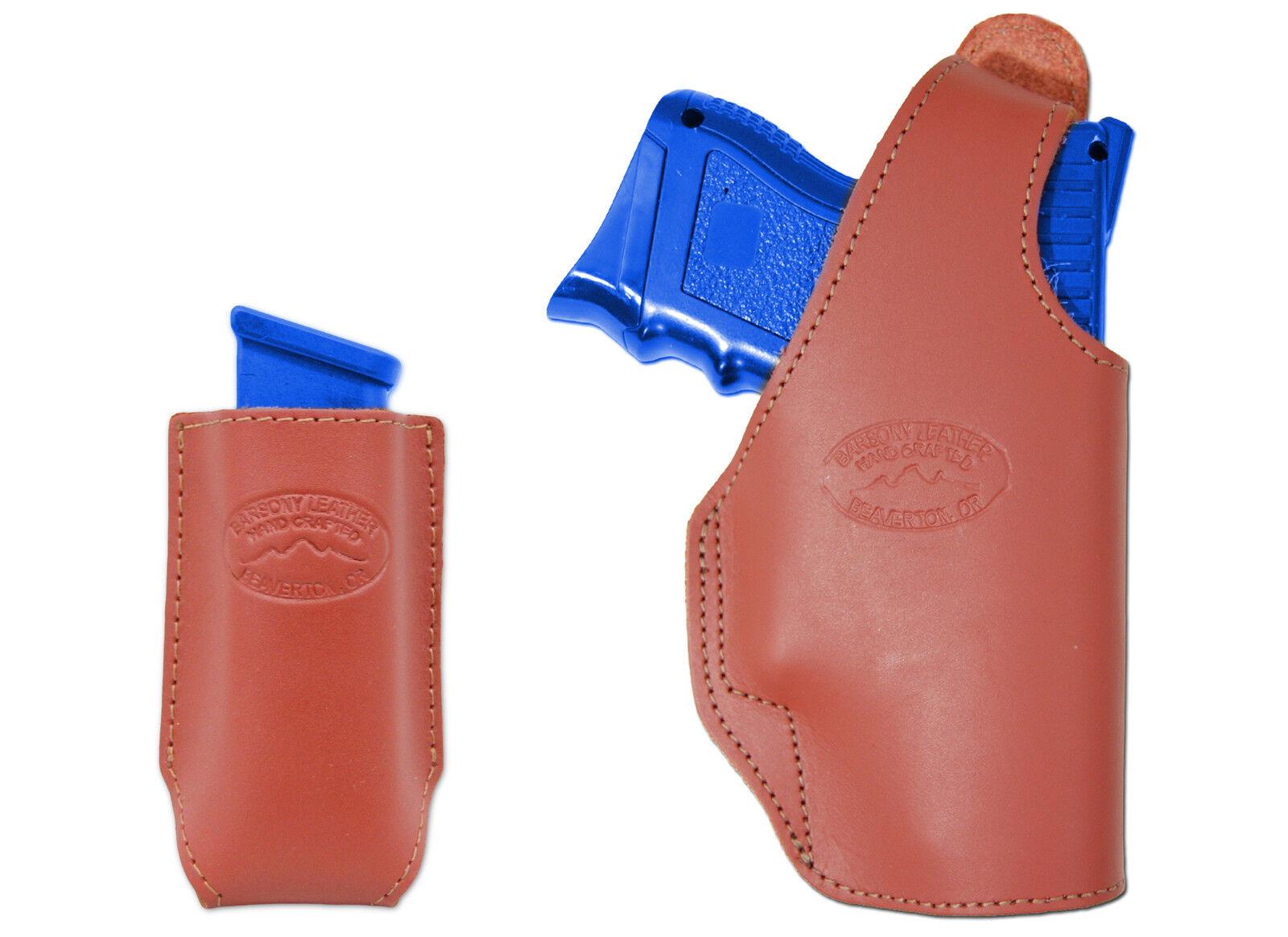 Nuevo barsony Cuero Burdeos Owb cinturón pistolera + bolsa del Mag Ruger Comp 9mm 40 45