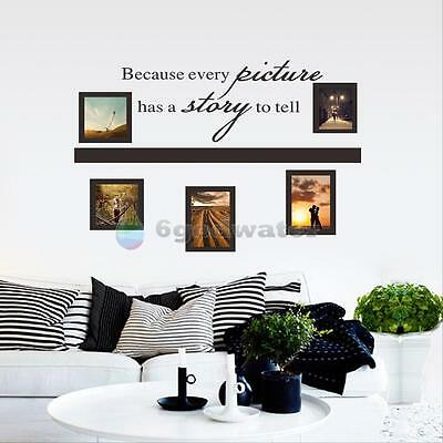 Removable Words Photo Frame Vinyl Art DIY Wall Sticker Decal Mural Home Decor