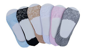 CHEX Secret Socks Heart Ladies Girls Invisible Ballerina Cotton Blend Sole UK3-6