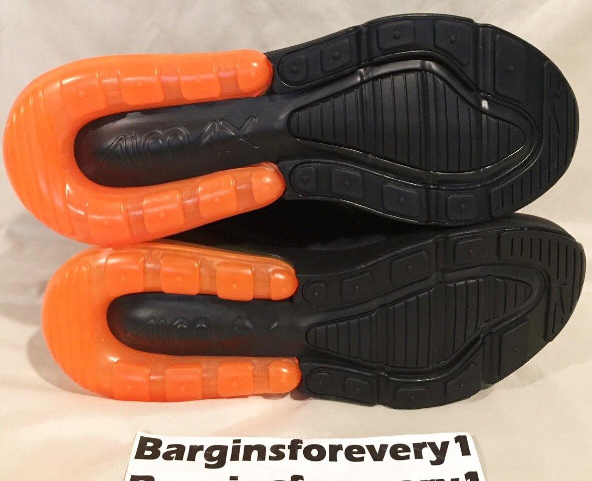 Neue nike air - max 270 -  6,5 - air schwarz / schwarz - orange - ah8050-008 insgesamt cb1dc1