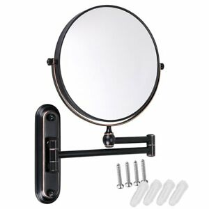 Details About Gurun 8 Inch 10x Magnifying Makeup Mirror Wall Mount Dual Side Oil Rubbed Bronze