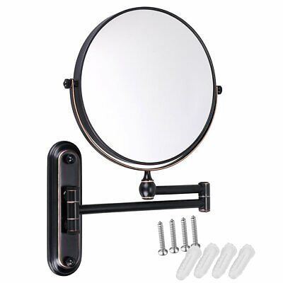 Gurun 8 Inch 10x Magnifying Makeup Mirror Wall Mount Dual