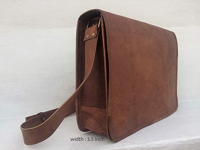 Rustikale Vintage Leder Laptop Aktentasche Messenger Satchel Tasche Schulter  | Schenken Sie Ihrem Kind eine glückliche Kindheit