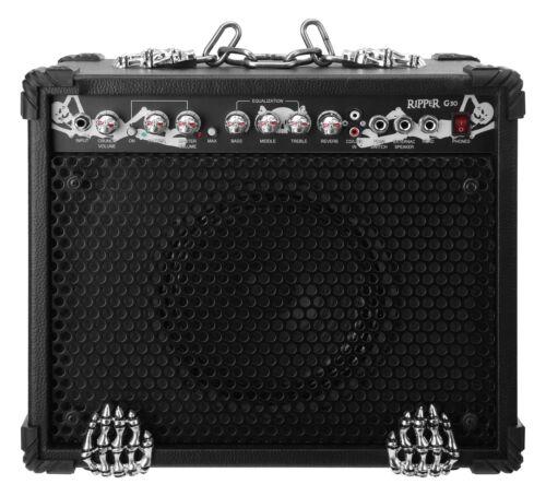 "Heavy Metal E-Gitarre Verstärker Amp Combo 10/"" Box 3-Band EQ Reverb AUX In 60W"