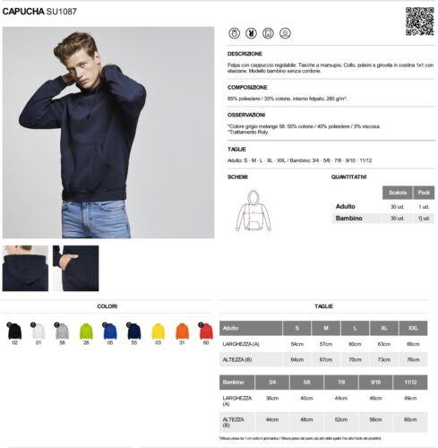 Felpa replica logo ADIDAS con cappuccio e tasche unisex bianca o nera trifoglio