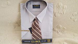 Herren Kurzarm Hemd Hellblau 2 Modern   Comfort Fit mit Krawatte NEU ... f224b7af92