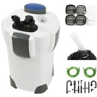 100 Gallon 370 Gph Aquarium Fish Tank Canister Filter + 9w Uv Sterilizer