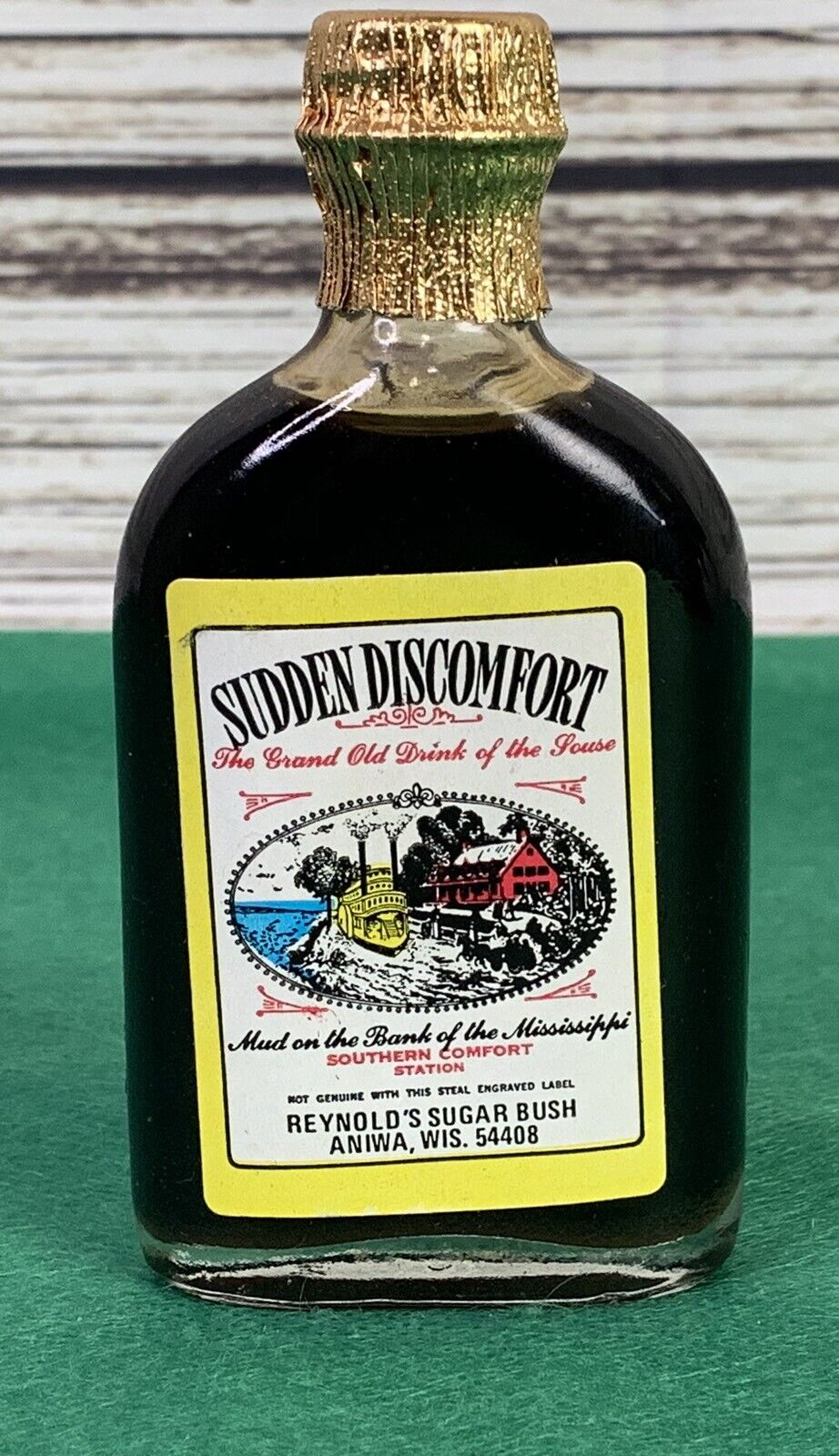 Sudden Discomfort Faux Miniature Whiskey Bottle Maple Syrup Knotts Berry Farm Ebay