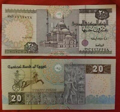 EGYPT 20 POUNDS P 52 SIGN 17 UNC