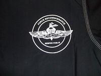 Usmc Marines Force Recon Rash Guard Rashguards Lycra Black Sizes S - 3xl