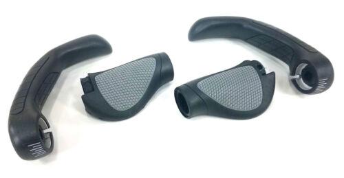 Large Black Ergon GP5-L GripShift Handlebar Grips w Bar Ends