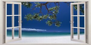 Details about Fig Tree Beach Cyprus Sea Sand 3D Effect Window Canvas  Picture Wall Art Prints